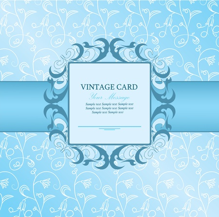Invitation vintage card  Stock Vector - 13282283