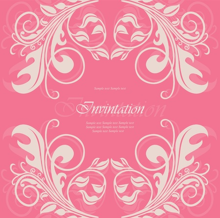 Invitation or announcement  Stock Vector - 13282273
