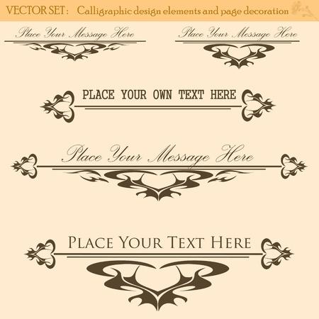 Vector Set of Vintage Design Elements Stock Vector - 13282276