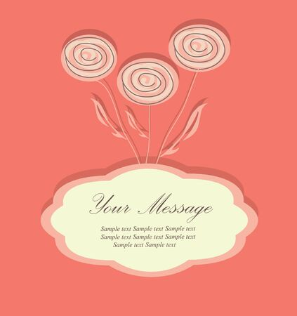 Floral background.The greeting card Vector