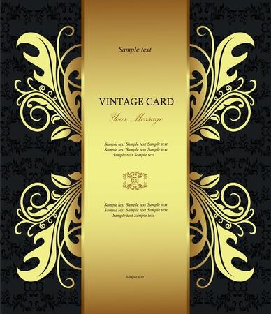 Luxury golden vintage styled card