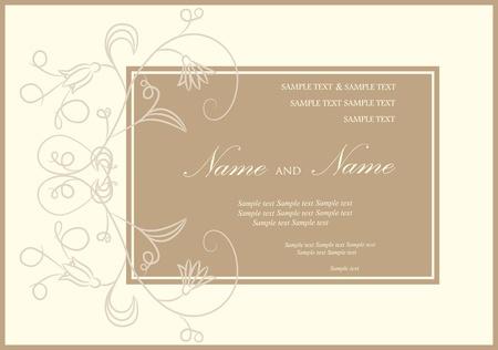 Wedding invitation or announcement Stock Vector - 13282274