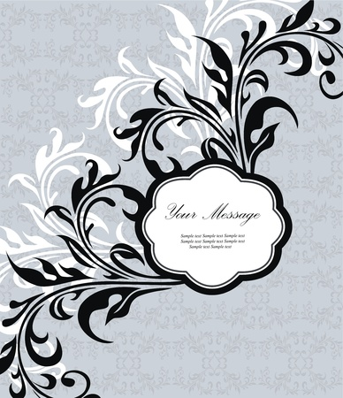 Floral invitation card Stock Vector - 13320727