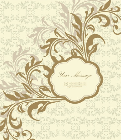 Floral card Stock Vector - 13330457