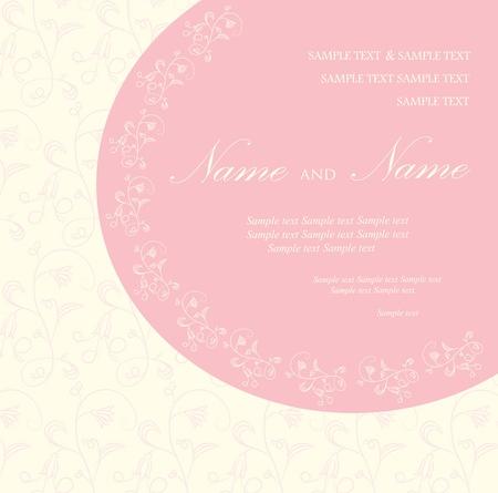 Uitnodiging van het huwelijk of aankondiging Vector Illustratie