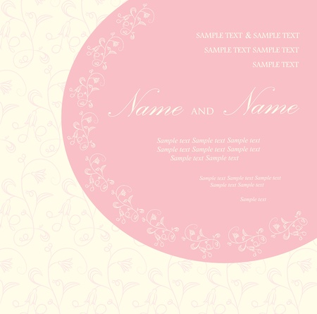 Wedding invitation or announcement