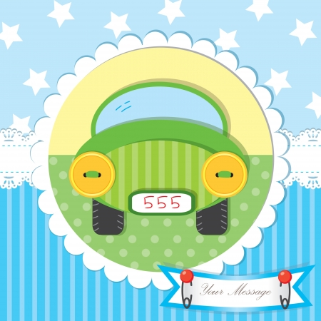 postcard template: Cute baby shower and scrapbook