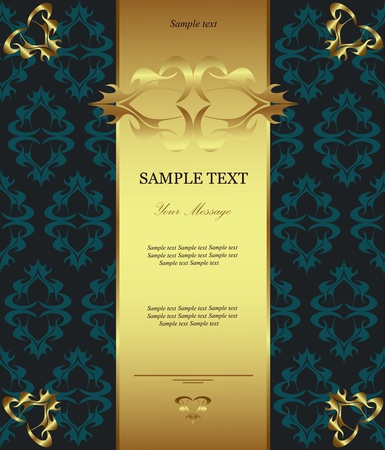 Luxury golden card  Vector