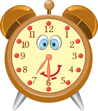 Funny cartoon alarm clock Illustration