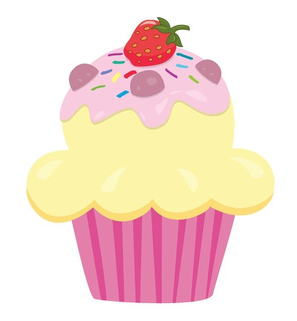 cup cakes: A yummy cupcake Illustration