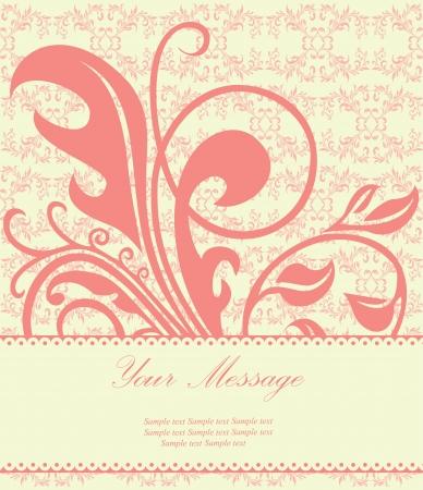 blue damask: Lovely floral card