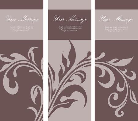 triptico: Conjunto de tarjetas de invitación florales