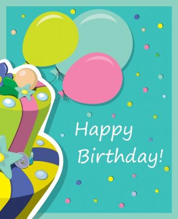 birthday cake   Greeting Card Stock Vector - 15354715