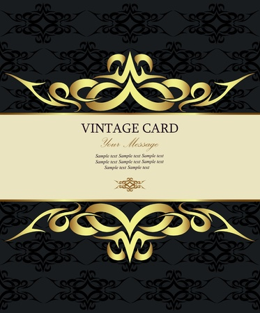 Luxury vintage card  illustration Illustration