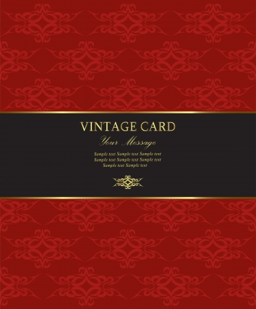wine label design: Damask vintage card  illustration Illustration