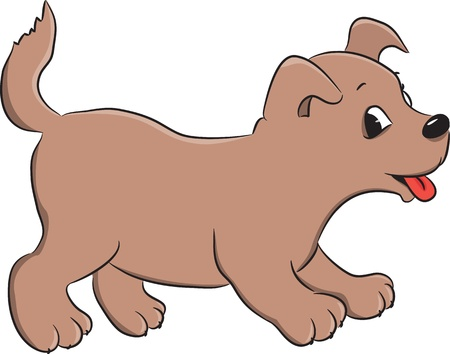 cute cartoon dog: A cute cartoon dog  illustration
