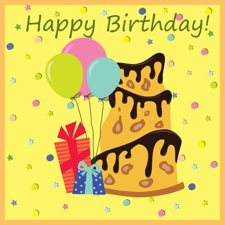 A birthday greeting card   illustration  Vector