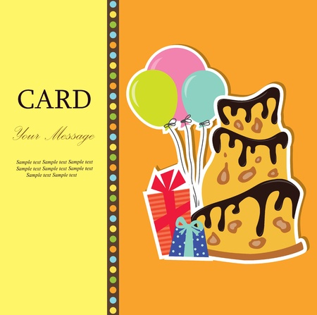A greeting card  illustration Stock Vector - 15385421