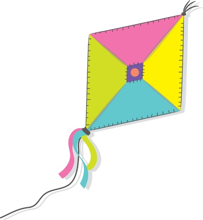 A kite isolated on the white background  illustration  Vector