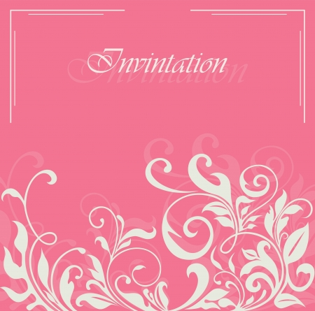Invitation or announcement card. Vector illustration Vector