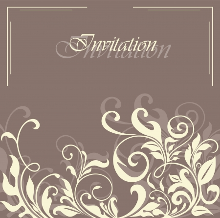 bridal shower: Beautiful floral invitation card.