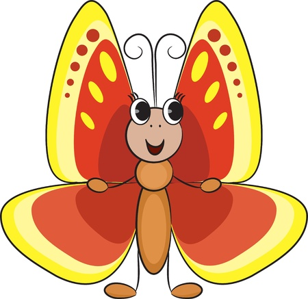 Cute cartoon butterfly Stock Vector - 15439571