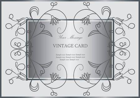 bodas de plata: Invitación floral de plata o anuncio