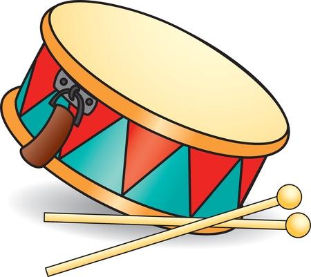 oyuncak: Oyuncak davul ve drumsticks.