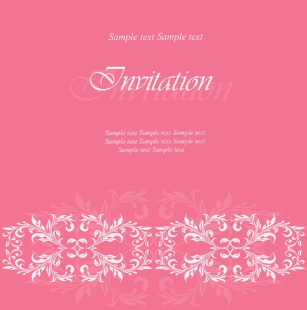 Invitation or announcement card Vector
