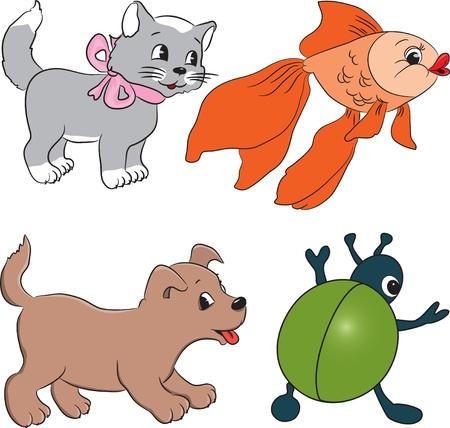 clip art draw: Cartoon animals