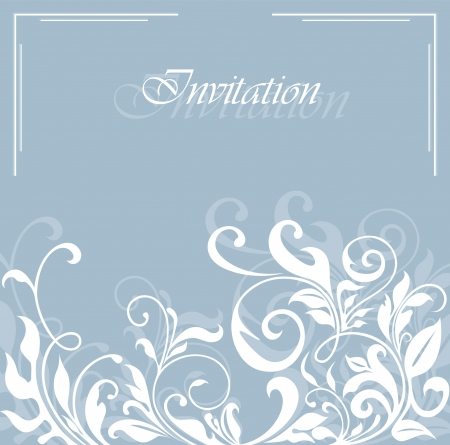 bridal shower: Invitation vintage card with floral ornament