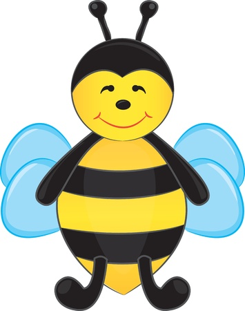 Cute cartoon bee  Vector illustration Vector