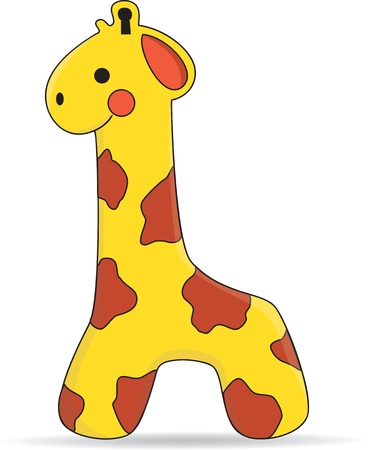 Cute Giraffe Toy - Vector Vector