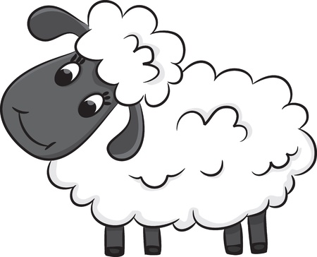 sheep cartoon: Cartoon sheep  Vector illustration