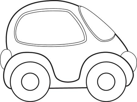 Vector speelgoedauto Vector Illustratie