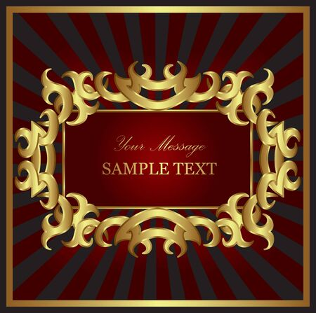 Luxury gold card. Background. Vector Vector