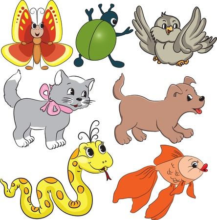 small scale: Vector cartoon animals