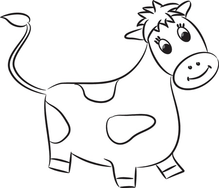Cartoon cow  Vector Vector
