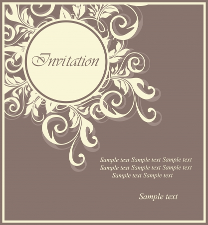 Floral invitation card  Ilustrace