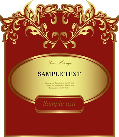 Red label  Vector illustration  Vector