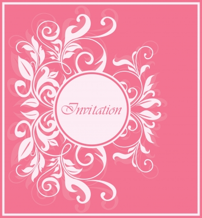 Invitation vintage card. Vector