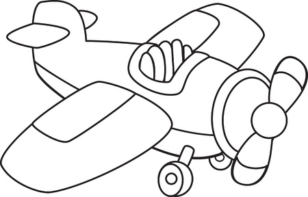 conveyances: Toy plane.  Illustration