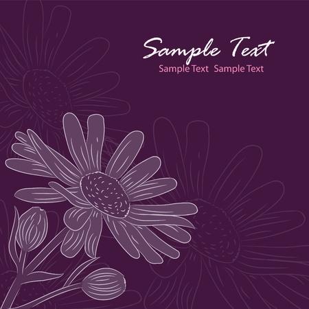 Beautiful floral card Stock Vector - 15655840