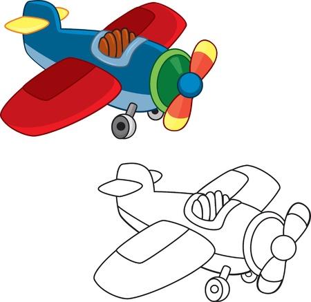 outlined isolated: Avi�n de juguete para colorear libro