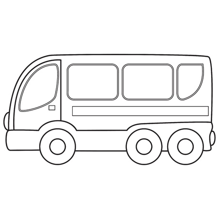 Touring: Zabawka autobus. Ilustracji wektorowych