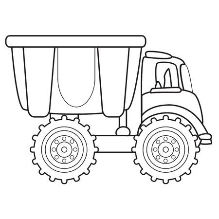 ダンプ: ダンプ トラックのおもちゃベクター グラフィック