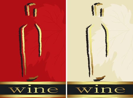 wine label design: Set of bottle labels  Vector Illustration