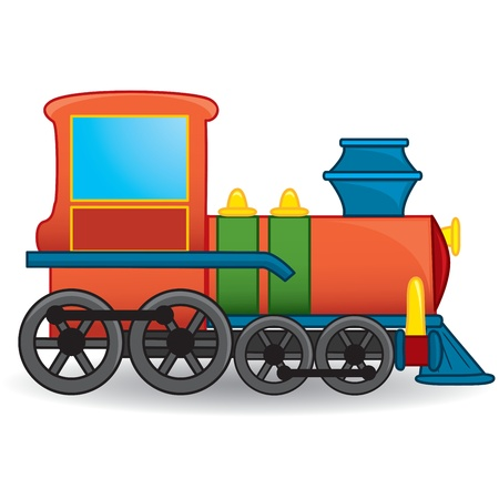 pociąg: Pociąg zabawka Wektor