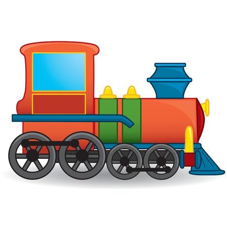 motor de carro: Tren de juguete Vector