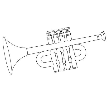 fanfare: Trumpet toy. Vector